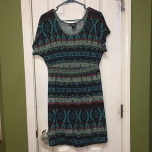 Anthropologie Delirious Boho Aztec Dress XL